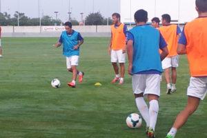 Primer día de entrenamiento del Recreativo de Huelva.