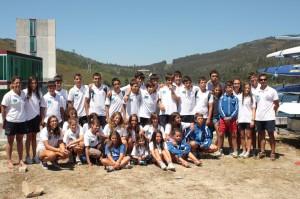 Equipo de piragüismo del Club Marítimo de Huelva.