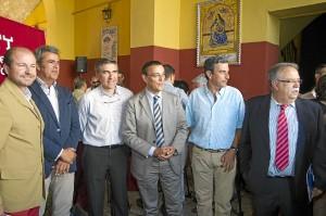 Presentación de la iniciativa en la plaza de Toros de Huelva.