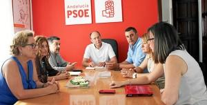 Reunión de los diputados socialistas.