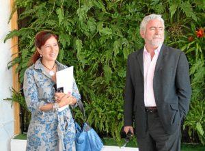 Inauguración del jardín vertical en Manzanilla.
