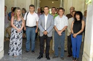 Minuto de silencio en la Diputación Provincial de Huelva.