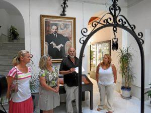 Presentación de la pieza del mes en Moguer.