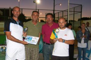 Ganadores del Torneo de pádel 'Playas de Mazagón'.