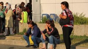 Un grupo de inmigrantes que regresan de la campaña de la fresa en Huelva. (Celia HK)