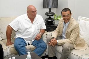 El hijo de Castro y el presidente de la Diputación.