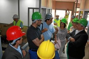 Visita a las obras del CADE en Ayamonte.