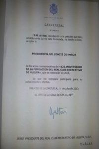 Confirmación de la Casa Real.