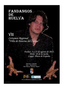 Cartel del certamen de fandango en Paterna.