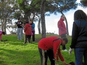 El Parque Moret, en plena actividad.