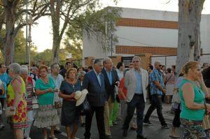 El alcalde, el subdelegado y otras autoridades han estado junto a la Virgen de la Cinta.