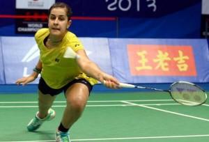 Carolina Marín en los cuartos de final del Mundial.