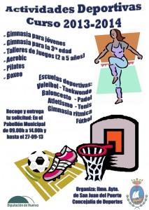 Cartel de las Escuelas Deportivas Municipales de San Juan del Puerto.