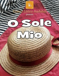 Cartel anunciador de 'Oh sole mio'.