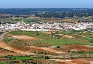 Vista aérea del término municipal de Rociana del Condado. (Rodolfo Barón)