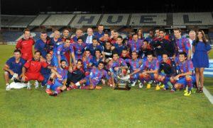 El Levante, campeón del XLIX Trofeo Colombino de fútbol. (Espínola)