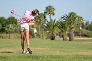 Inés Alarcón, ganadora del Trofeo de golf en Isla Canela.