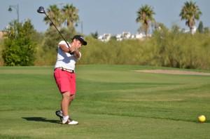 Marco Colomer, en el Trofeo de golf de Isla Canela.