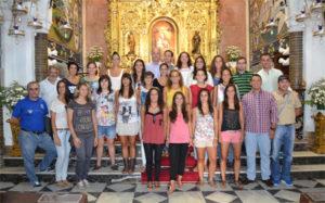Ofrenda floral del Sporting a la Virgen de la Cinta.