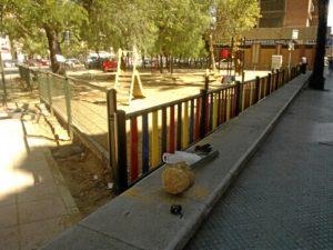 Parque infantil de la avenida de Alemania.