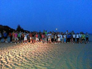 Participantes en la ruta nocturna de Ayamonte.