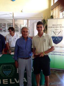 Carlos Leandro, ganador del Trofeo Colombino de golf.