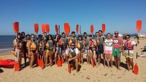 Actividad de kayak en Mazagón.