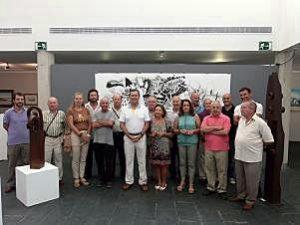 Inauguración de la exposición de artistas de Punta.