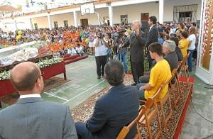 Don MIguel en un acto en la Palma del Condado.