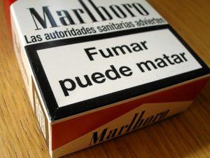 Una de las frases más recurrentes en las cajetillas de tabaco.