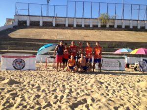 Ganadores del V Open de Futvoley playa.
