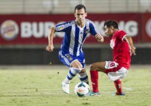 Linares, autor de dos goles ante el Murcia.