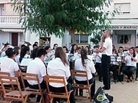 La banda de música de Punta Umbría.