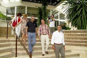 Visita de Caraballo y el alcalde de Ayamonte al hotel Melia.