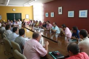 Reunión de los clubes de Tercera división en la  sede de la Federación Andaluza.