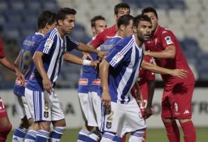 Partido de Copa del Rey entre el Recreativo y el Sporting. (J. Pérez)
