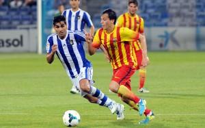 Dimas ante el Barcelona B. (Espínola)