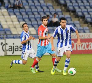 Jorge Larena y Ezequiel ante el Lugo. (Espínola)