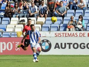 Arana, logrando un gol desde 40 metros ante el Mallorca. (Espínola)