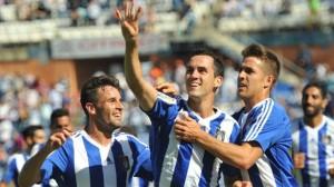 Linares, autor de dos goles ante el Mallorca.