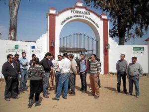 Imagen de archivo de una protesta de proveedores ante Formades.