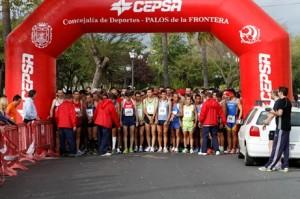 Salida de la Media Maraton Palos-Cepsa.