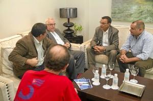Visita del cónsul de Cuba al presidente de la Diputación.