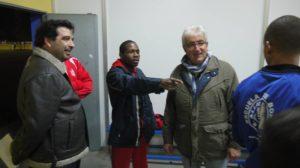 Kelvin de la Nieve en su Escuela de boxeo en San Juan del Puerto.