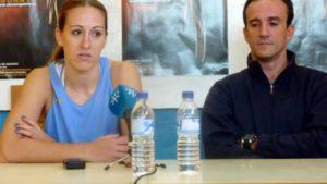 Itziar Germán y Gabriel Carrasco, capitana y técnico del CB Conquero.