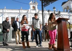 Acto en Cartaya contra la Violencia de Género.