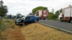 Uno de los accidentes ocurridos este pasado año en las carreteras de Huelva.