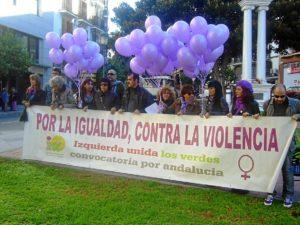Acto de IU contra la violencia machista.