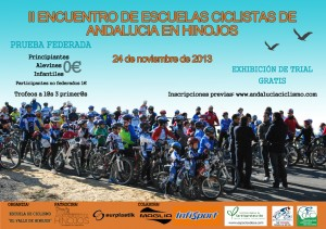 Cartel del II Encuentro de Ciclistas de Andalucía.