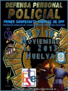 Cartel del Andaluz de Defensa Personal Policial.